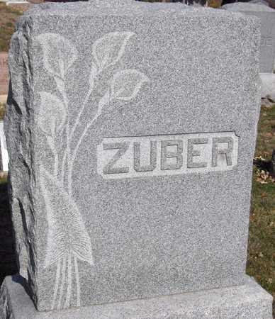 ZUBER, FAMILY MONUMENT - Scott County, Iowa | FAMILY MONUMENT ZUBER