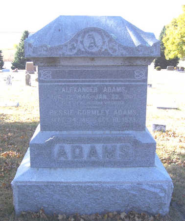 ADAMS, BESSIE - Shelby County, Iowa | BESSIE ADAMS