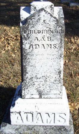 ADAMS, CHILDREN OF A. & B. - Shelby County, Iowa | CHILDREN OF A. & B. ADAMS