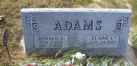 ADAMS, ELAINE L. - Shelby County, Iowa | ELAINE L. ADAMS