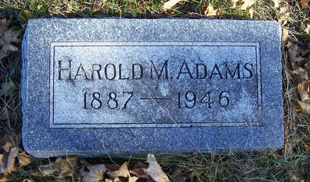 ADAMS, HAROLD M. - Shelby County, Iowa   HAROLD M. ADAMS