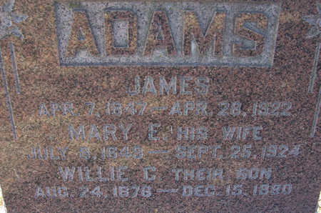 ADAMS, MARY E. (CLOSE-UP) - Shelby County, Iowa | MARY E. (CLOSE-UP) ADAMS