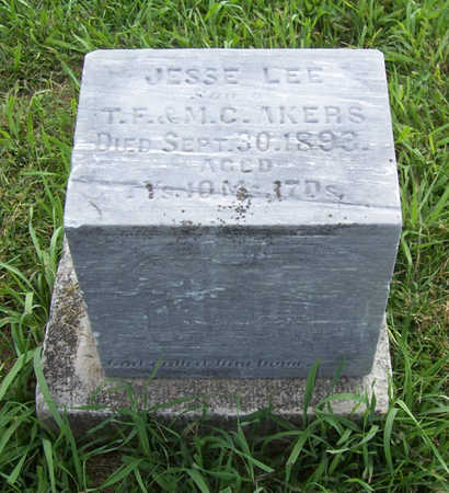 AKERS, JESSE LEE - Shelby County, Iowa | JESSE LEE AKERS