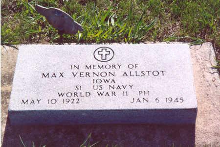 ALLSTOT, MAX VERNON - Shelby County, Iowa   MAX VERNON ALLSTOT