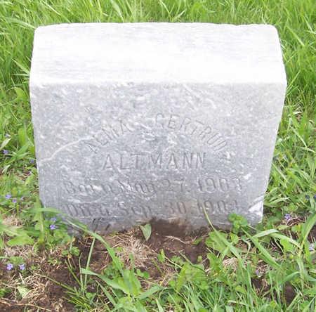 ALTMAN, ALMA GERTRUDE - Shelby County, Iowa | ALMA GERTRUDE ALTMAN