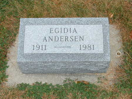 ANDERSEN, EGIDIA - Shelby County, Iowa   EGIDIA ANDERSEN