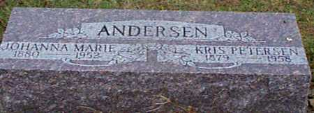 ANDERSEN, JOHANNA M - Shelby County, Iowa   JOHANNA M ANDERSEN
