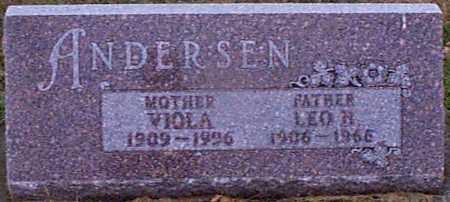ANDERSEN, LEO H - Shelby County, Iowa | LEO H ANDERSEN