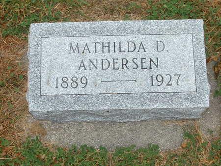 ANDERSEN, MATHILDA - Shelby County, Iowa   MATHILDA ANDERSEN