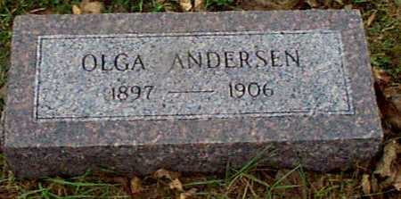 ANDERSEN, OLGA - Shelby County, Iowa   OLGA ANDERSEN
