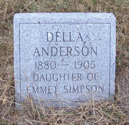 SIMPSON ANDERSON, DELLA - Shelby County, Iowa | DELLA SIMPSON ANDERSON