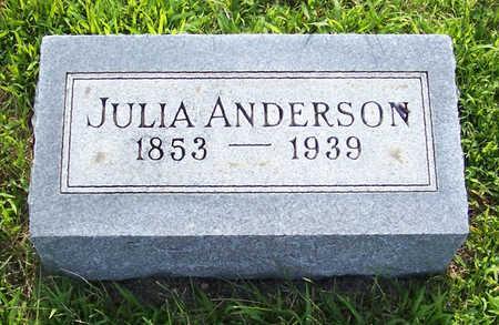 ANDERSON, JULIA - Shelby County, Iowa   JULIA ANDERSON