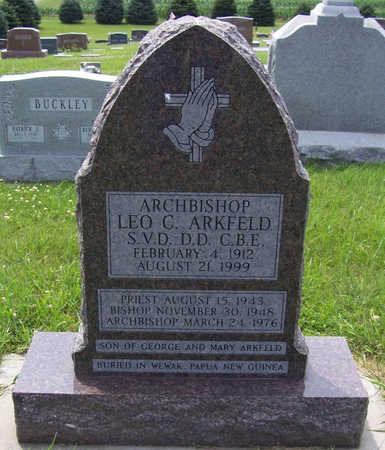 ARKFELD, ARCHBISHOP LEO C. - Shelby County, Iowa   ARCHBISHOP LEO C. ARKFELD