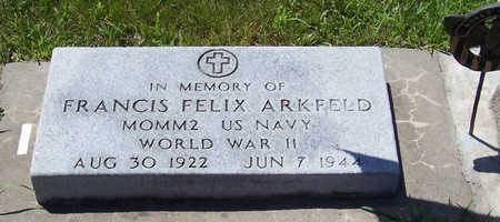 ARKFELD, FRANCIS FELIX - Shelby County, Iowa | FRANCIS FELIX ARKFELD