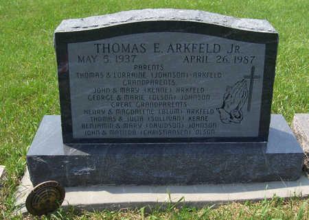 ARKFELD, THOMAS E., JR. - Shelby County, Iowa   THOMAS E., JR. ARKFELD
