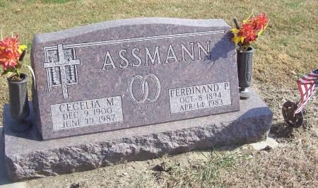 ASSMANN, CECELIA M. - Shelby County, Iowa | CECELIA M. ASSMANN