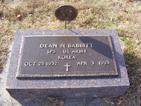 BABBITT, DEAN N. (MILITARY) - Shelby County, Iowa   DEAN N. (MILITARY) BABBITT