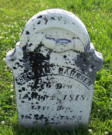 BAHNSEN, CHRISTIAN - Shelby County, Iowa   CHRISTIAN BAHNSEN