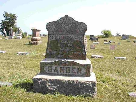 BARBER, SARAH E.   (SARAH ELIZABETH) - Shelby County, Iowa | SARAH E.   (SARAH ELIZABETH) BARBER