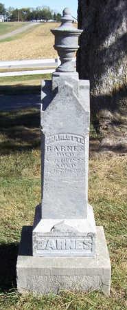 BARNES, CHARLOTTE - Shelby County, Iowa   CHARLOTTE BARNES
