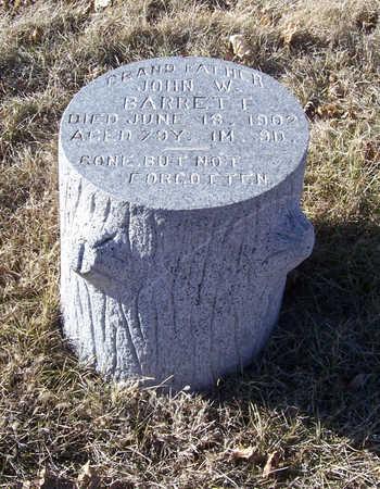 BARRETT, JOHN W. - Shelby County, Iowa | JOHN W. BARRETT