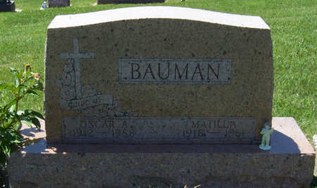 WILWERDING BAUMAN, MATILDA - Shelby County, Iowa | MATILDA WILWERDING BAUMAN