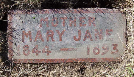 BECK, MARY JANE (MOTHER) - Shelby County, Iowa | MARY JANE (MOTHER) BECK