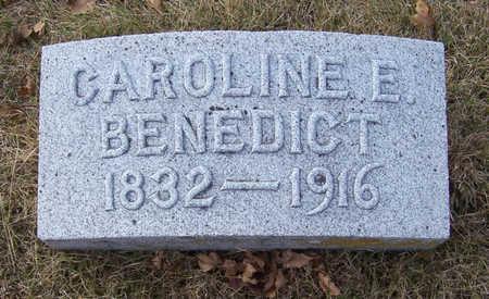 BENEDICT, CAROLINE E. - Shelby County, Iowa   CAROLINE E. BENEDICT