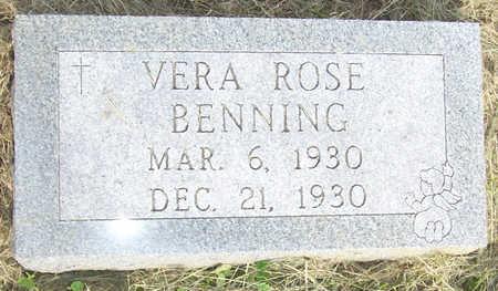 BENNING, VERA ROSE - Shelby County, Iowa | VERA ROSE BENNING