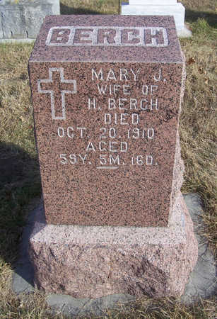 BERCH, MARY J. - Shelby County, Iowa | MARY J. BERCH