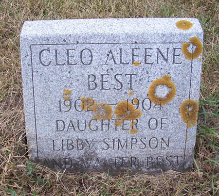BEST, CLEO ALEENE - Shelby County, Iowa | CLEO ALEENE BEST