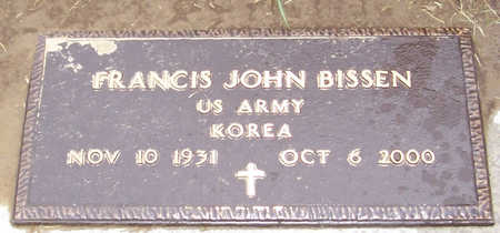 BISSEN, FRANCIS JOHN (MILITARY) - Shelby County, Iowa   FRANCIS JOHN (MILITARY) BISSEN