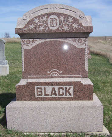 BLACK, [FAMILY PLOT] - Shelby County, Iowa   [FAMILY PLOT] BLACK