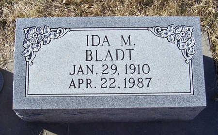 BLADT, IDA M. - Shelby County, Iowa   IDA M. BLADT