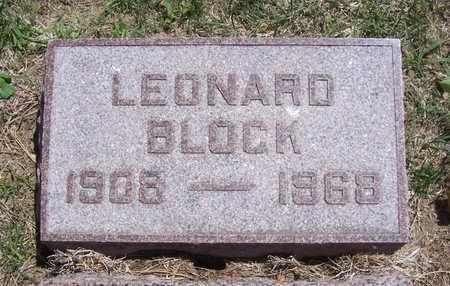 BLOCK, LEONARD - Shelby County, Iowa   LEONARD BLOCK