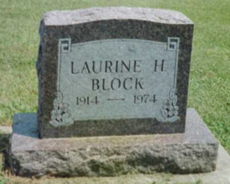 BLOCK, LAURINE H. - Shelby County, Iowa   LAURINE H. BLOCK