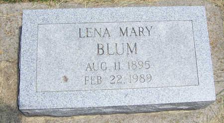 BLUM, LENA MARY - Shelby County, Iowa | LENA MARY BLUM