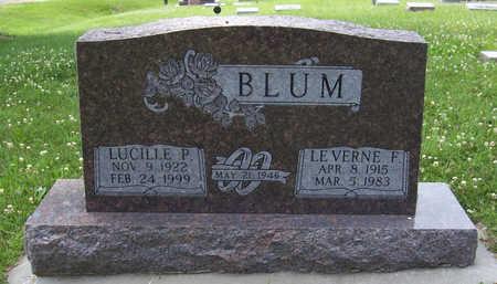 BLUM, LEVERNE F. - Shelby County, Iowa | LEVERNE F. BLUM