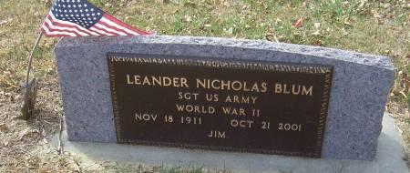 BLUM, LEANDER NICHOLAS (MILITARY) - Shelby County, Iowa   LEANDER NICHOLAS (MILITARY) BLUM
