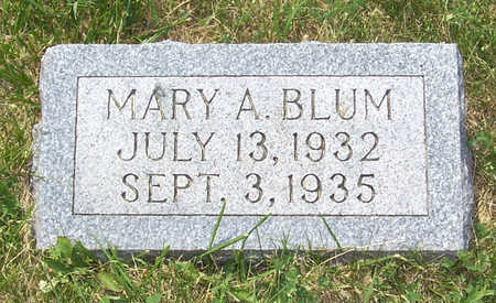 BLUM, MARY A. - Shelby County, Iowa | MARY A. BLUM