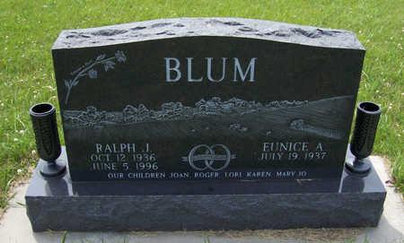 BLUM, RALPH J. - Shelby County, Iowa | RALPH J. BLUM