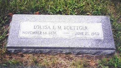BOETTGER, LOUISA EMMA MATILDA - Shelby County, Iowa | LOUISA EMMA MATILDA BOETTGER