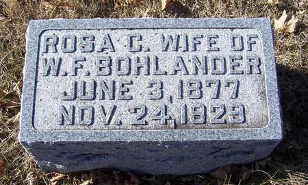 BOHLANDER, ROSA C. - Shelby County, Iowa   ROSA C. BOHLANDER