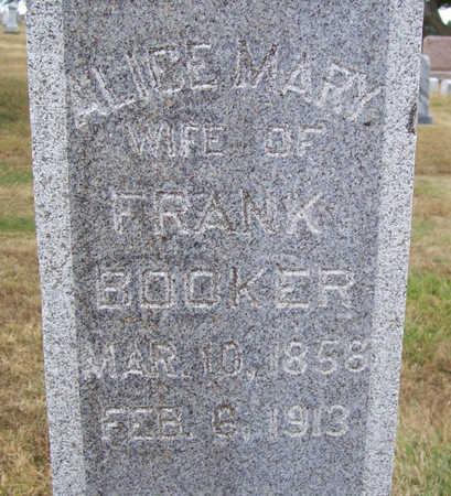 BOOKER, ALICE MARY - Shelby County, Iowa | ALICE MARY BOOKER