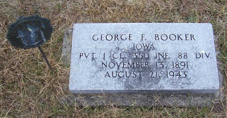 BOOKER, GEORGE F. (MILITARY) - Shelby County, Iowa | GEORGE F. (MILITARY) BOOKER