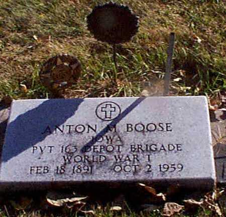 BOOSE, ANTON MARTIN - Shelby County, Iowa | ANTON MARTIN BOOSE