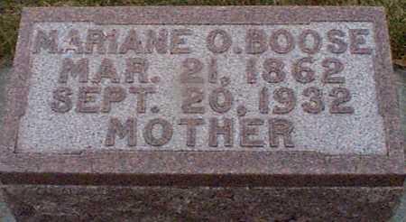 BOOSE, MARIANE O - Shelby County, Iowa | MARIANE O BOOSE