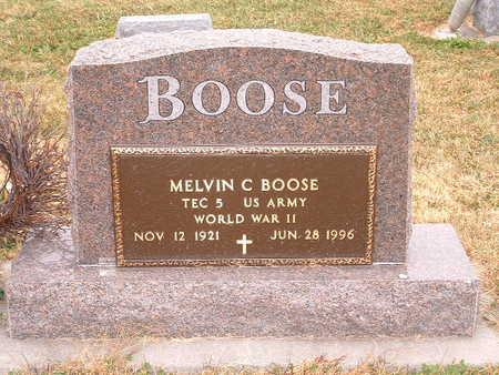 BOOSE, MELVIN C. - Shelby County, Iowa   MELVIN C. BOOSE