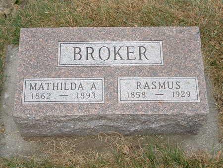BROKER, MATHILDA A - Shelby County, Iowa | MATHILDA A BROKER