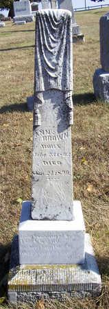 BROWN, ANN - Shelby County, Iowa | ANN BROWN